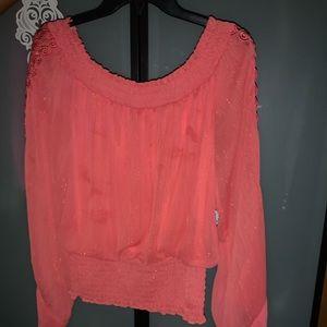 Shimmery Orange blouse